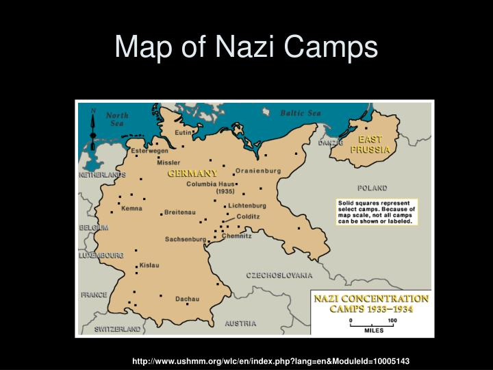 Map of Nazi Camps