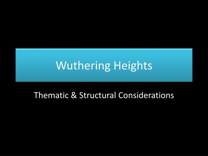 wuthering heights social class thesis