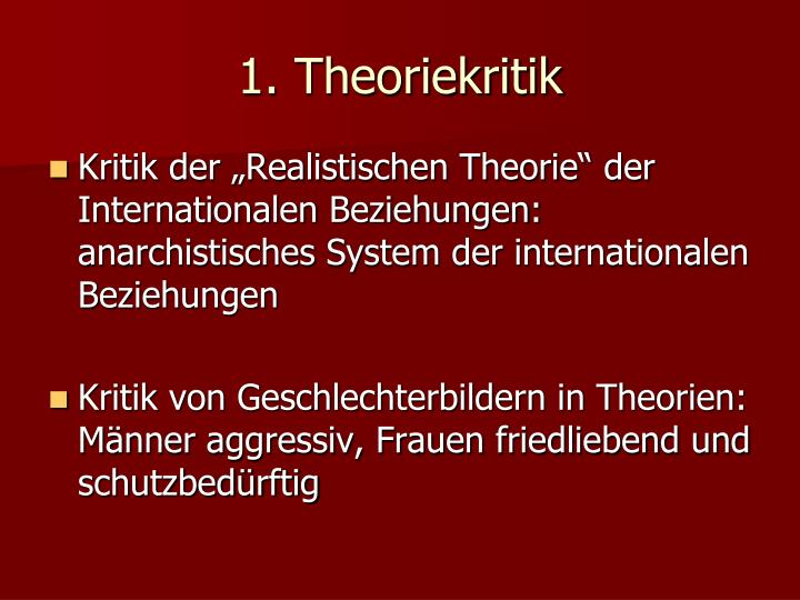 1. Theoriekritik
