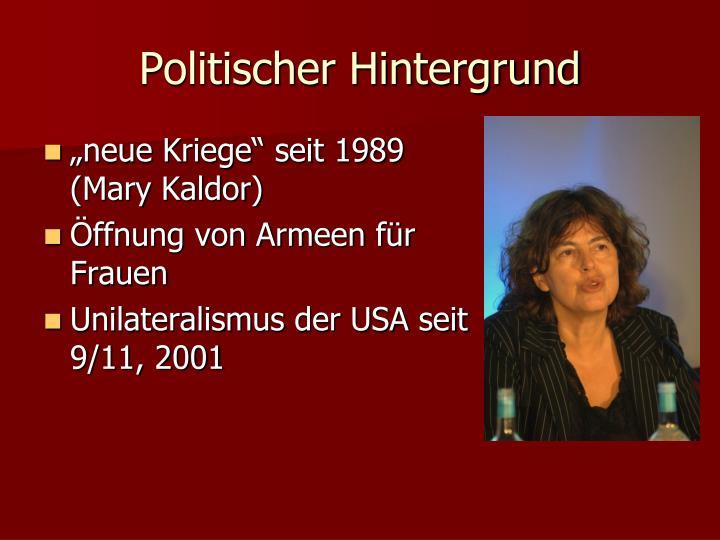 Politischer Hintergrund