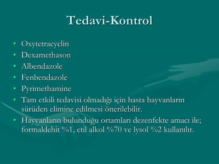 Tedavi-Kontrol