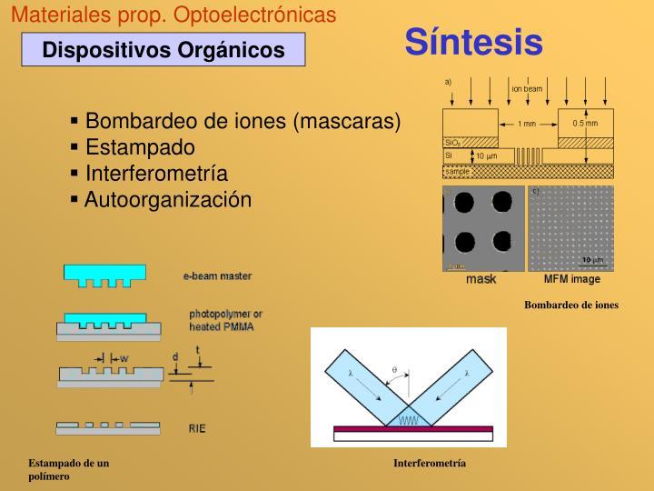 Materiales prop. Optoelectrónicas