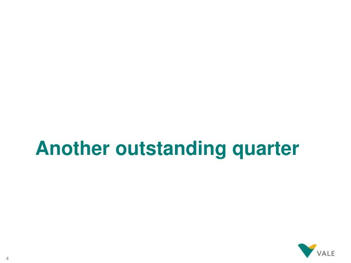 Another outstanding quarter