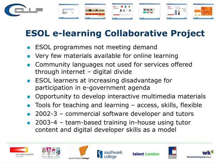 ESOL e-learning Collaborative Project