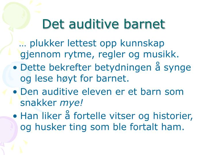 Det auditive barnet