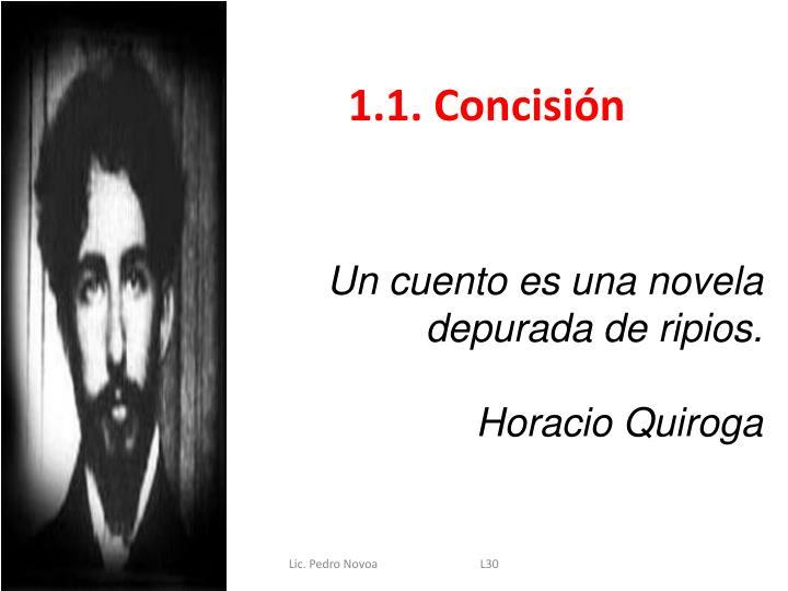 1.1. Concisión