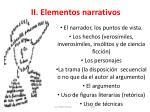 ii elementos narrativos