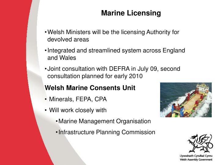 Marine Licensing