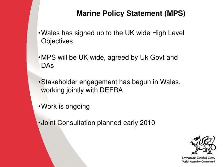 Marine Policy Statement (MPS)