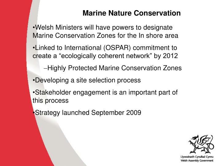 Marine Nature Conservation