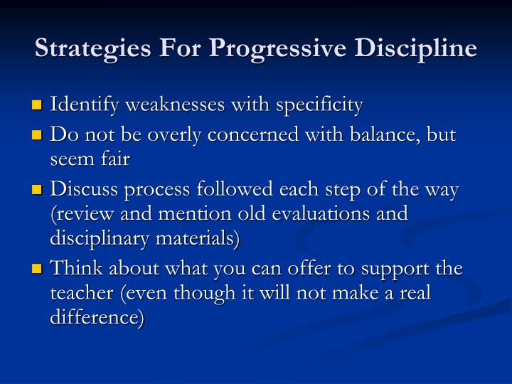 Strategies For Progressive Discipline