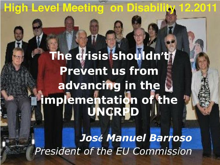 High Level Meeting  on Disability 12.2011