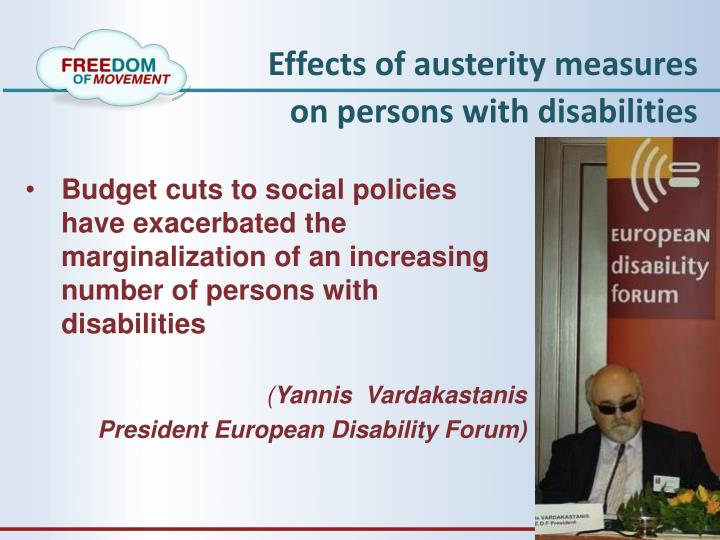 Effects of austerity measures