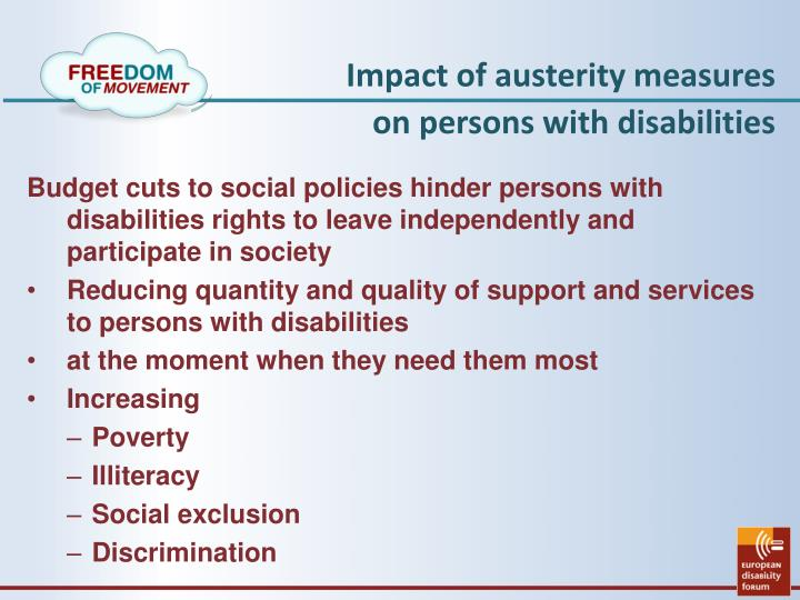 Impact of austerity measures