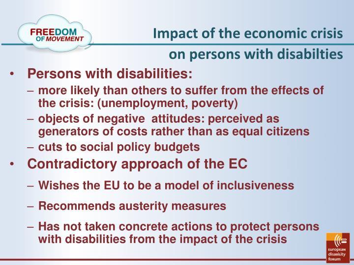 Impact of the economic crisis