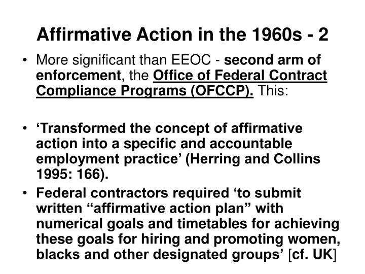 Affirmative Action in the 1960s - 2