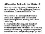 affirmative action in the 1960s 2
