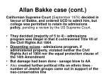 allan bakke case cont