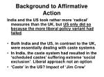 background to affirmative action