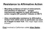 resistance to affirmative action