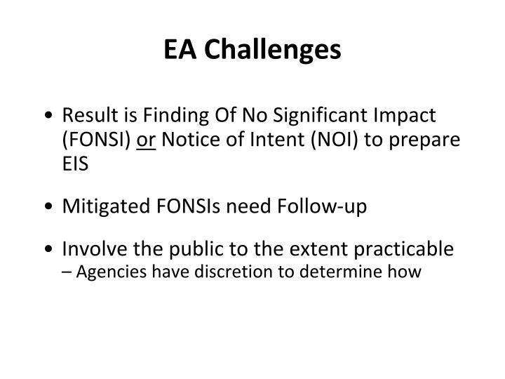 EA Challenges