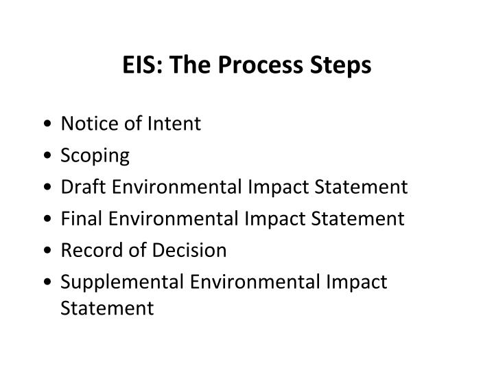 EIS: The Process Steps