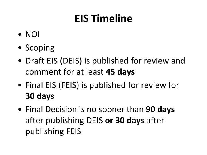 EIS Timeline