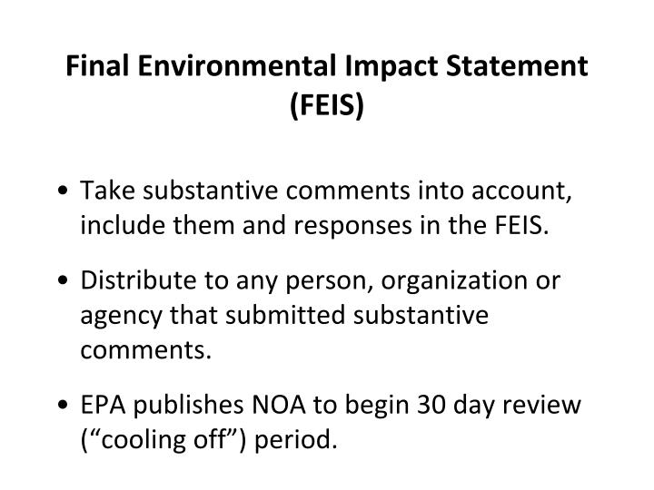 Final Environmental Impact Statement (FEIS)