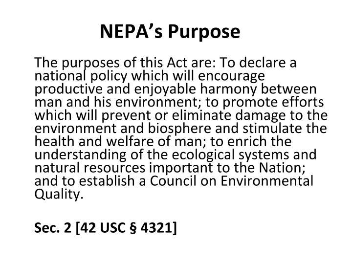 NEPA's Purpose