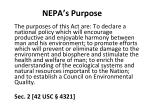 nepa s purpose