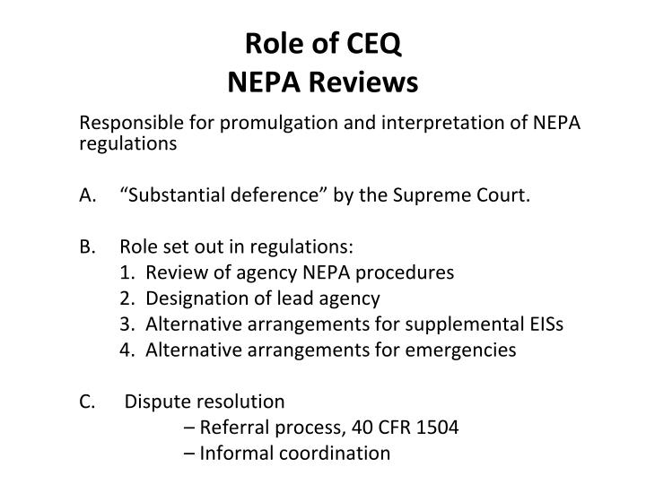 Role of CEQ