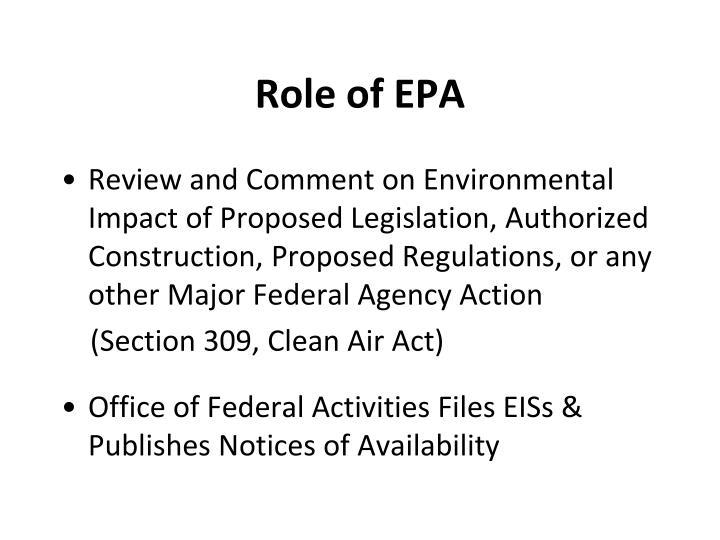 Role of EPA