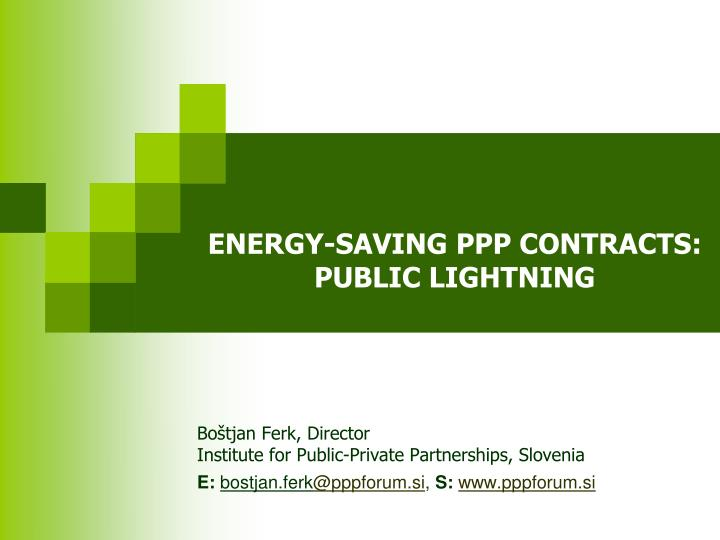 Energy saving ppp contracts public lightning