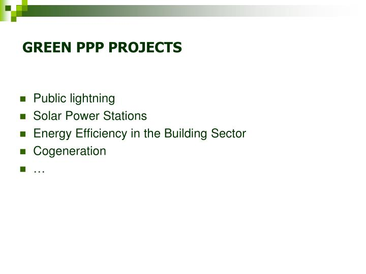 GREEN PPP PROJECTS