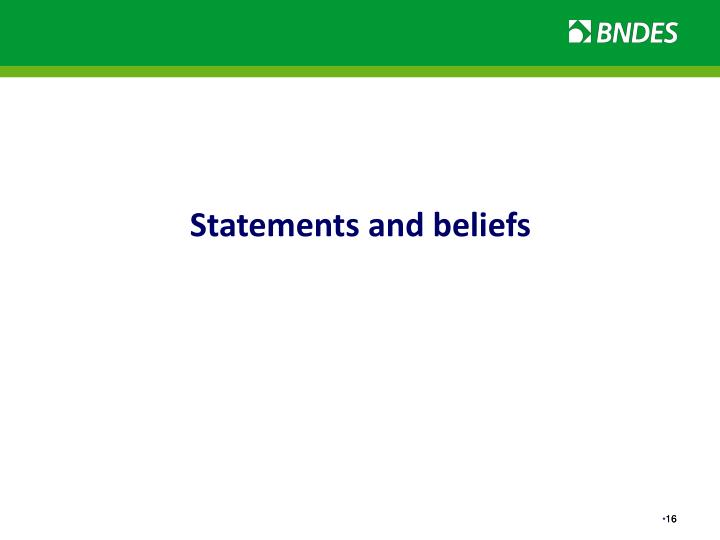 Statements and beliefs