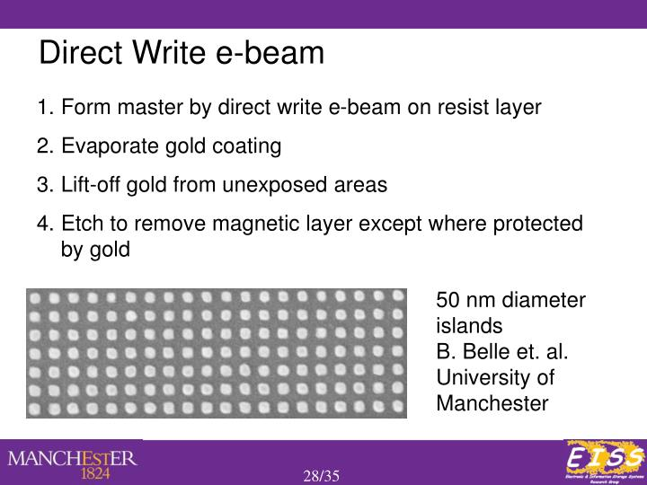 Direct Write e-beam