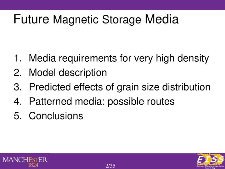 Media requirements for very high density