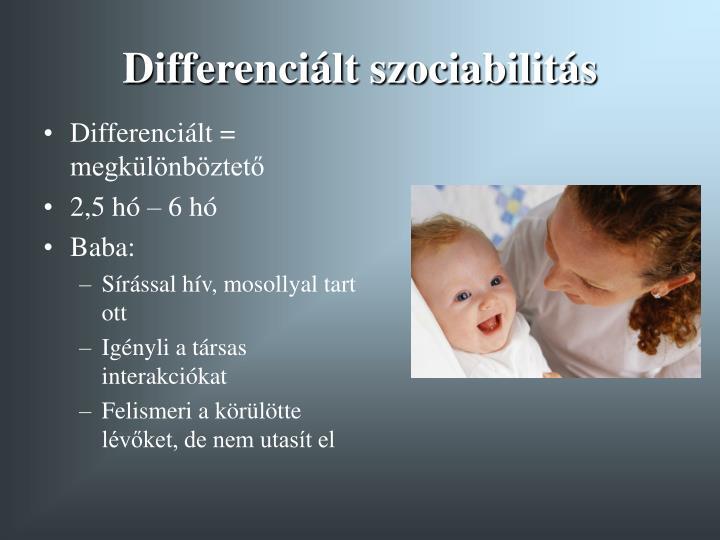 Differenciált szociabilitás