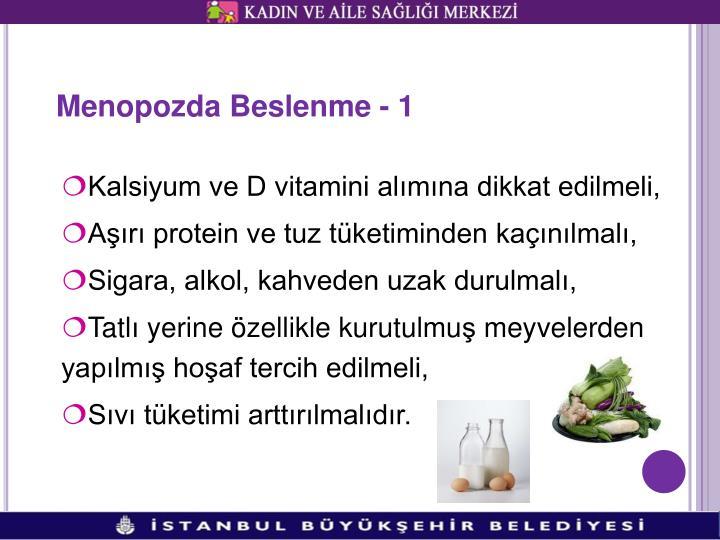 Menopozda Beslenme - 1