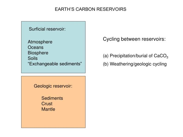 EARTH'S CARBON RESERVOIRS