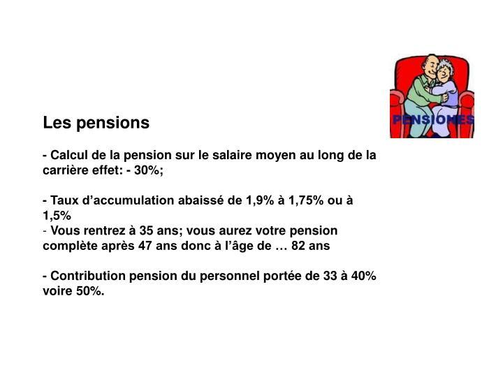 Les pensions
