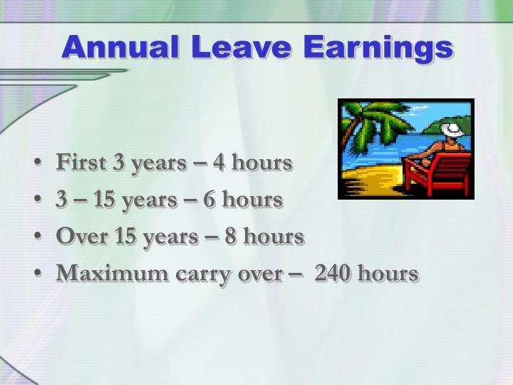 Annual Leave Earnings
