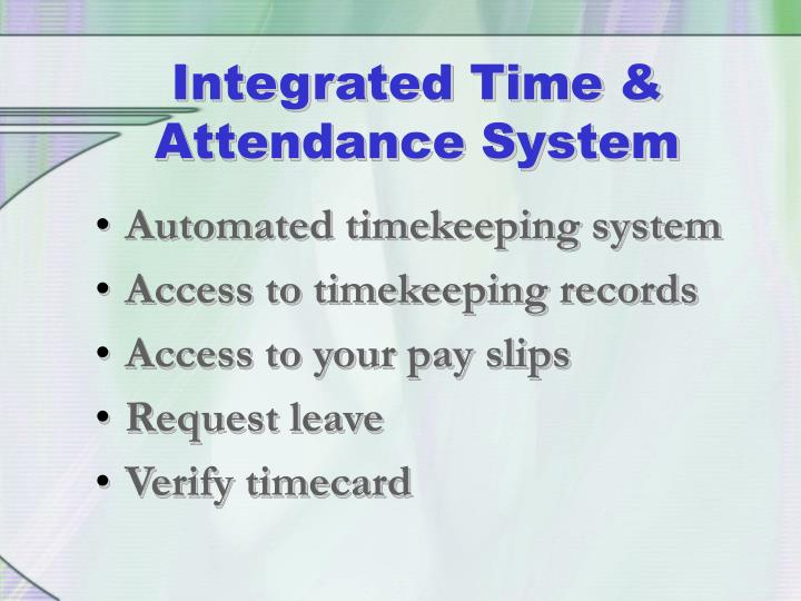 Automated timekeeping system