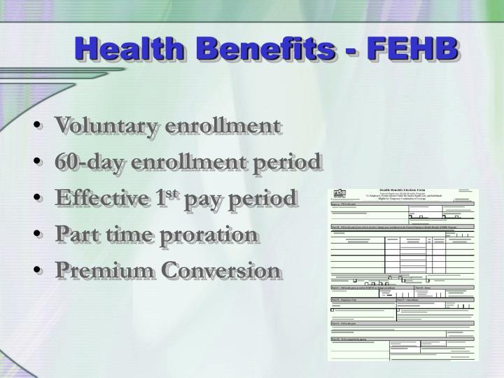 Health Benefits - FEHB