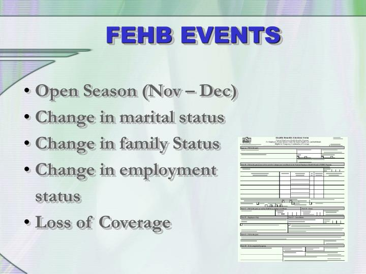 FEHB EVENTS