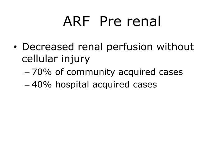 ARF  Pre renal