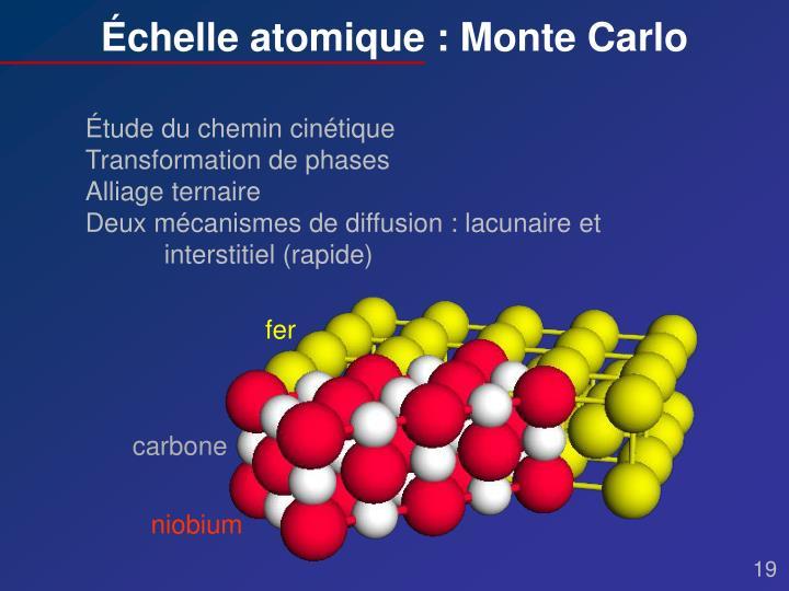 Échelle atomique : Monte Carlo