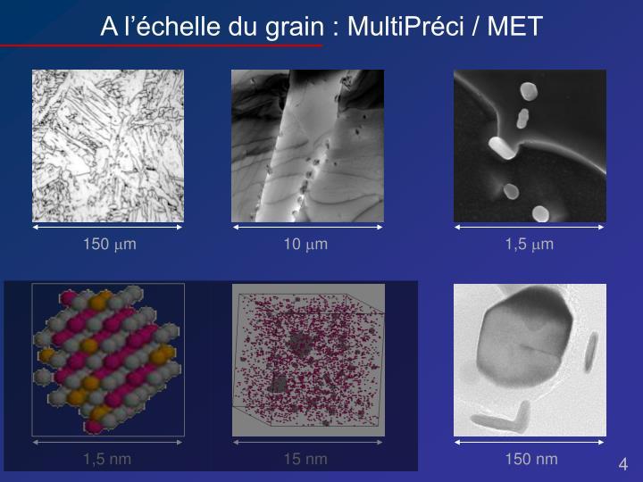 A l'échelle du grain : MultiPréci / MET