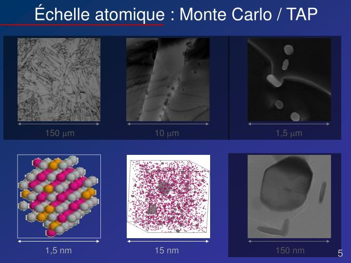Échelle atomique : Monte Carlo / TAP