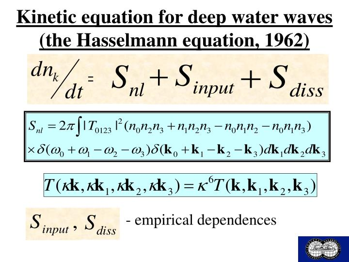 Kinetic equation for deep water waves